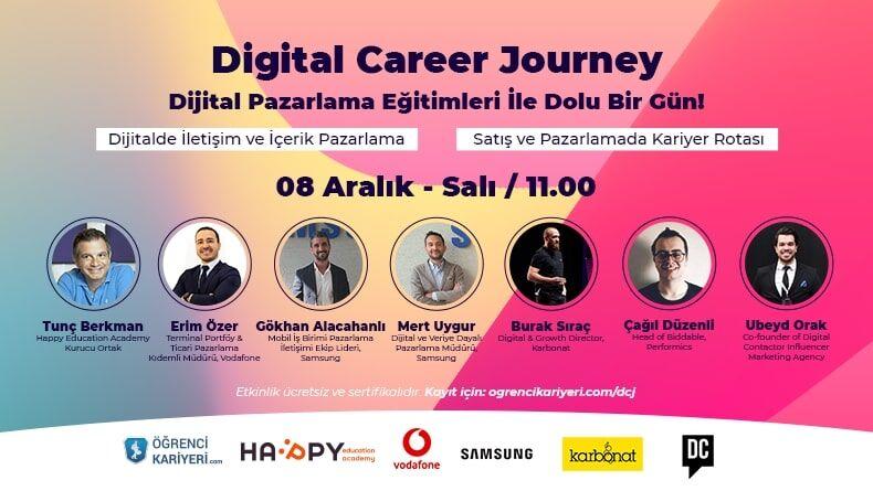 Öğrenci Kariyeri - Konsept Etkinlikler, Atölye & Workshop: Digital Career Journey Etkinliği 8 Aralıkta!