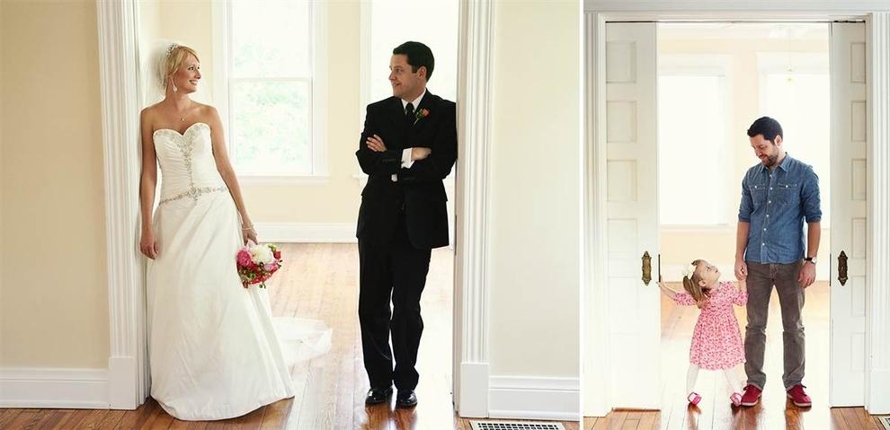 Kanser Olan Eşini Kaybettikten Sonra Düğün Fotoğraflarını Kızıyla Tekrar Canlandıran Baba