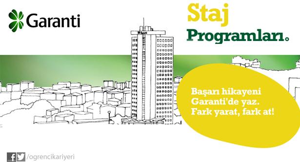 Garanti Bankası Staj Programları