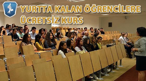 Yurt öğrencisine ücretsiz kurs