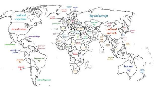 Ülkeleri İki Kelimeyle Tanımladılar.   Google