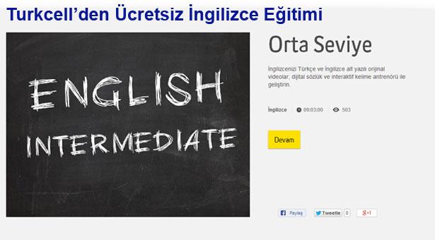 Turkcell'den Ücretsiz İngilizce Eğitimi