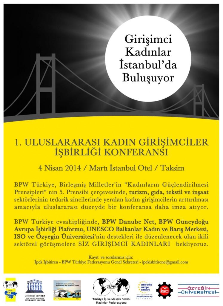1. Uluslararası Kadın Girişimciler İşbirliği Konferansı İstanbul'da