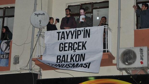 Üniversite Öğrencilerinden 'Balkon' Konuşması