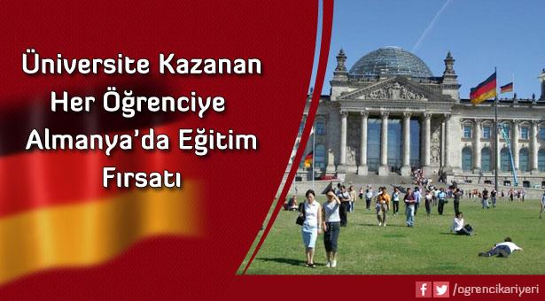 Üniversite Kazanan Her Öğrenciye Almanya'da Eğitim Fırsatı!