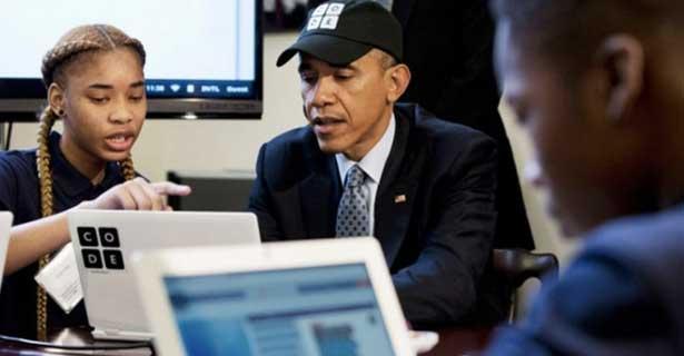 Başkan Obama Bilgisayarda Kod Yazmayı Öğrendi