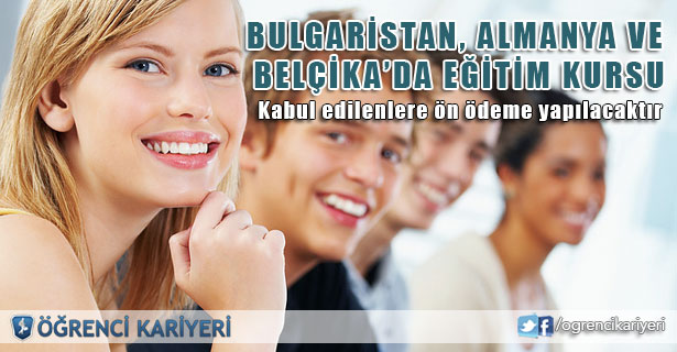 Bulgaristan, Almanya ve Belçika'da Eğitim Kursu