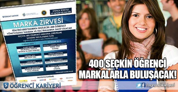 Öğrenci Kariyeri - En popüler - 400 Seçkin Öğrenci İstanbul'da Markalarla Buluşacak