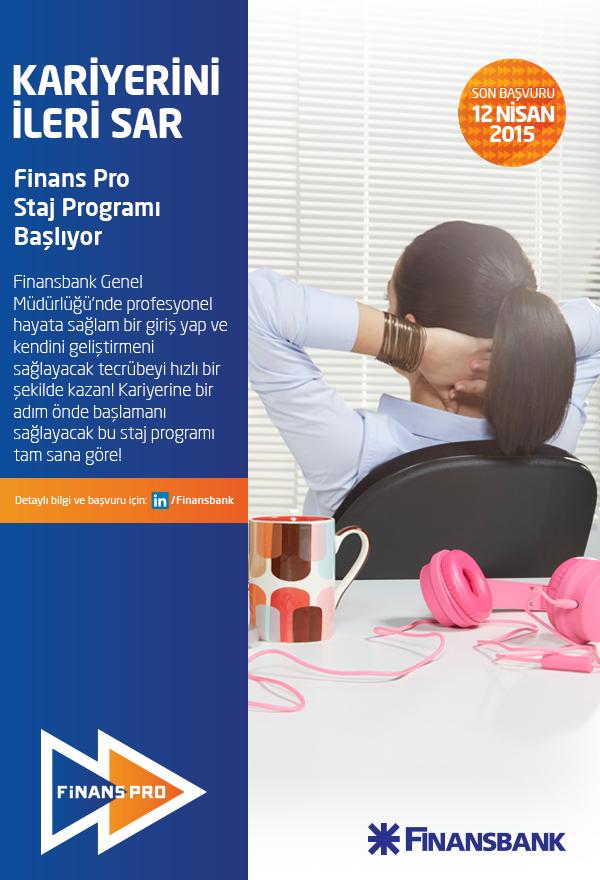 Öğrenci Kariyeri - : Finansbank Pro Staj Programı ile Kariyerini İleri Sar!