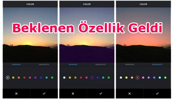 Instagram Renkleniyor!