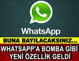 Whatsapp'a Bomba Gibi Yeni Özellik Geldi