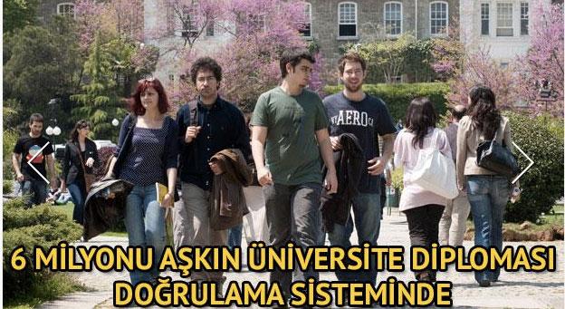 6 Milyonu Aşkın Üniversite Diploması Doğrulama Sisteminde