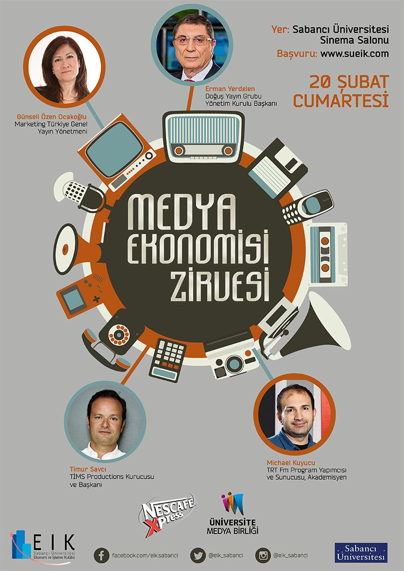 Öğrenci Kariyeri - : Medya Ekonomisi Zirvesi Sabancı Üniversitesi'nde Yapılacak