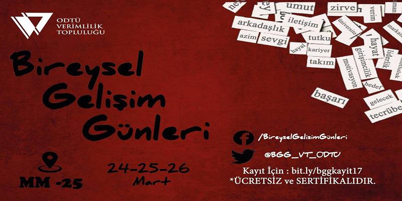 Öğrenci Kariyeri: Bireysel Gelişim Günleri 24-25-26 Mart'ta Odtü'de!