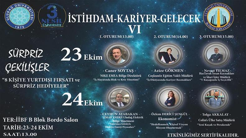 Öğrenci Kariyeri: İstihdam Kariyer Gelecek Uludağ Üniversitesi'nde Sizleri Yurtdışına Gönderiyor!