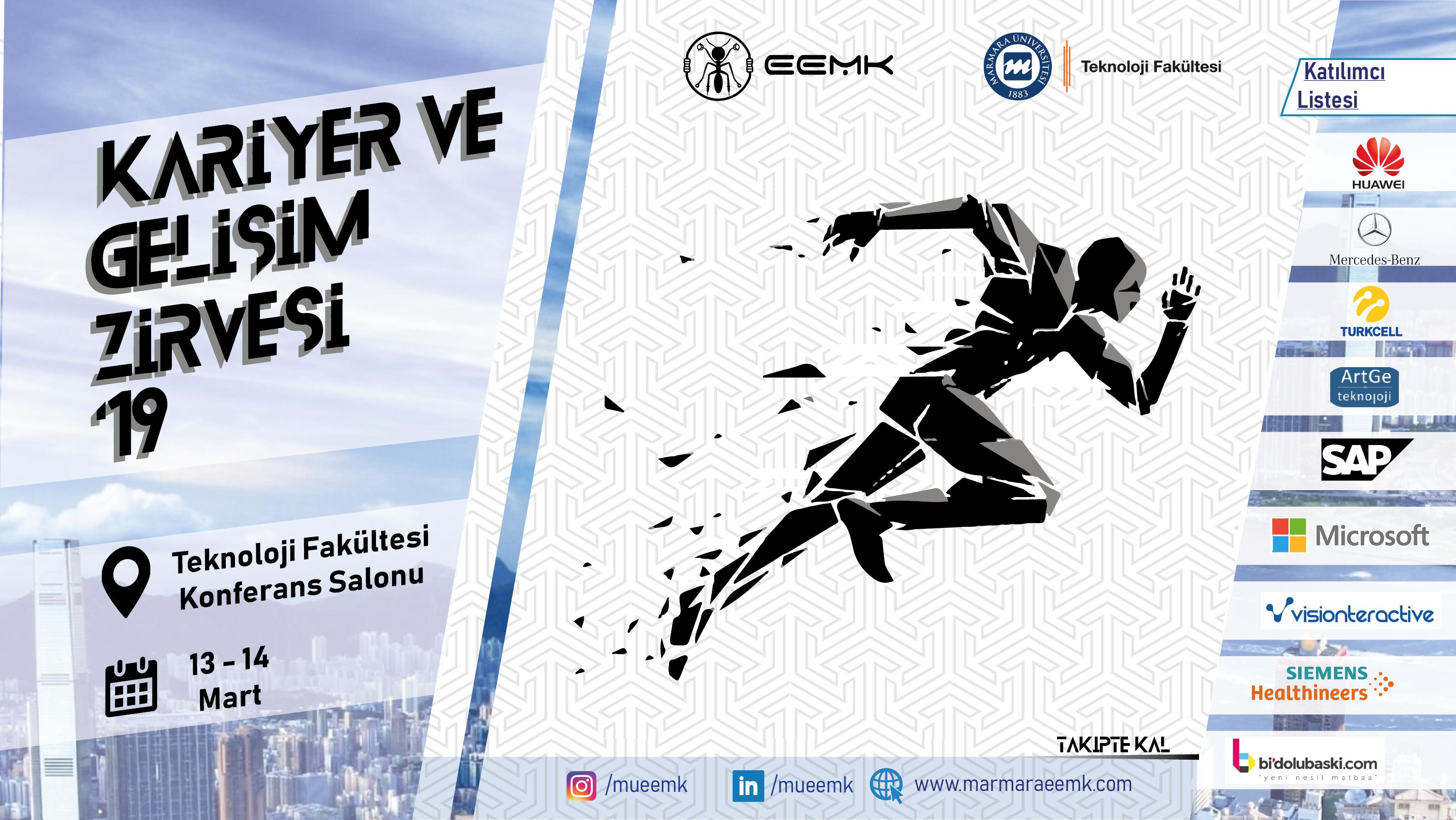 Öğrenci Kariyeri: 4. Kariyer ve Gelişim Zirvesi 13-14 Mart Tarihlerinde Marmara Üniversitesi Teknoloji Fakültesi'nde!