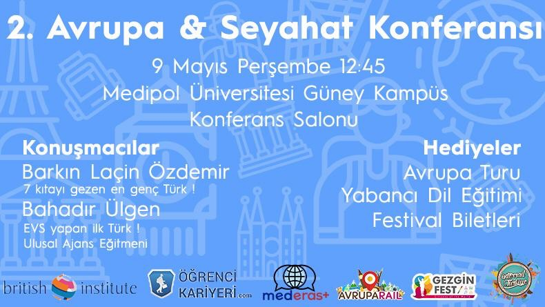 Öğrenci Kariyeri - : 9 Mayıs'da Medipol Üniversitesi'nde  Avrupa & Seyahat Konferansı