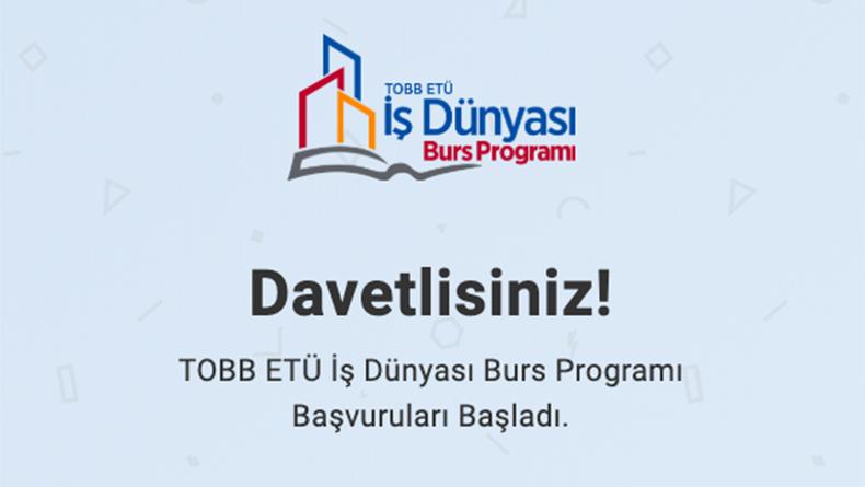 Öğrenci Kariyeri - Burs: TOBB ETÜ Burs Başvuruları Başladı Kaçırmayın!!