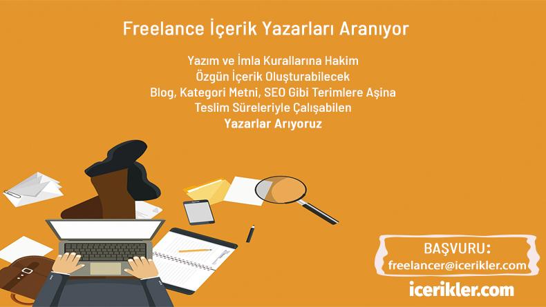 Öğrenci Kariyeri - İş (Part-Time): icerikler.com Freelance Yazarlarını Arıyor!