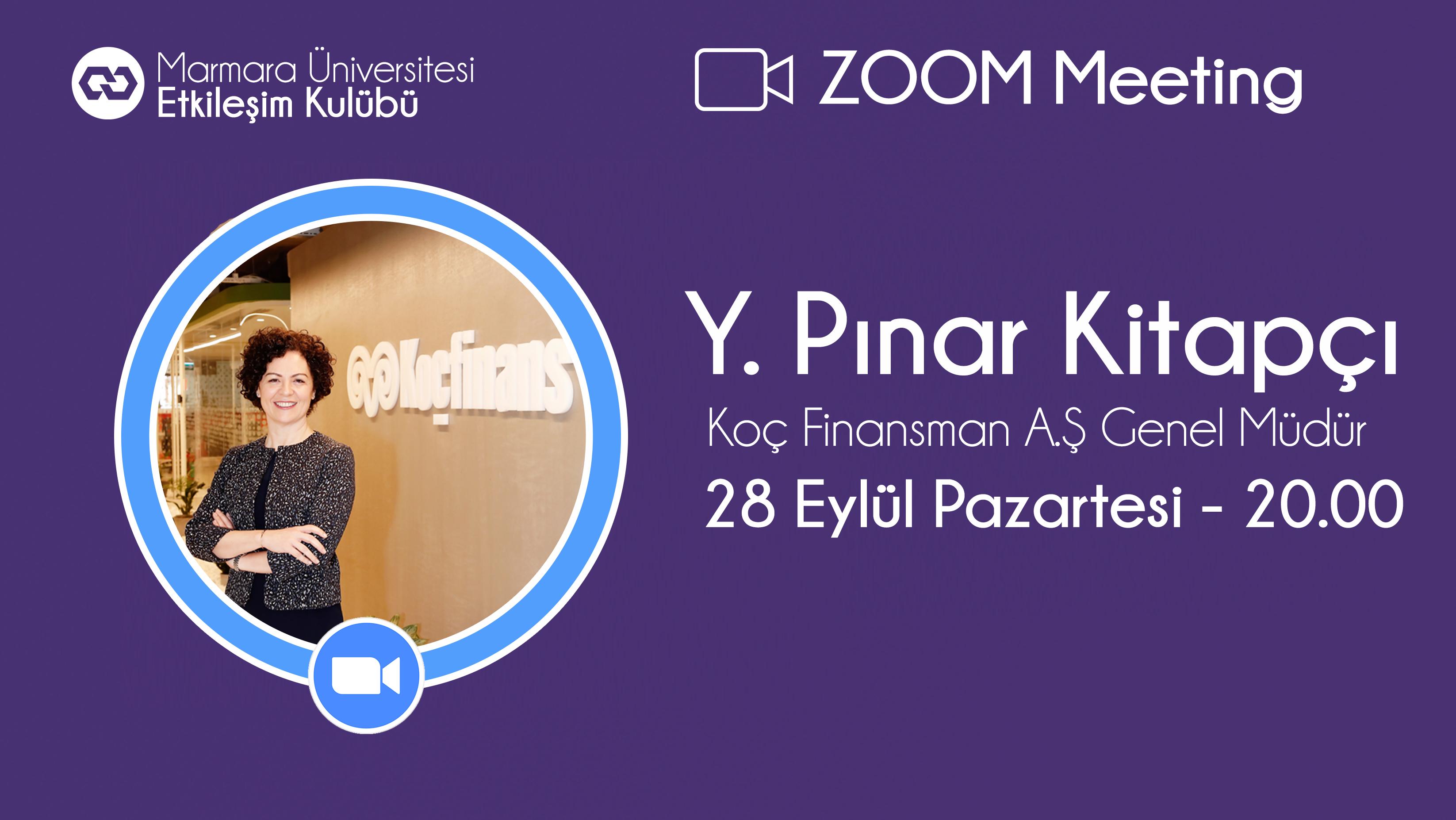 Öğrenci Kariyeri: Marmara Üniversitesi Etkileşim Kulübünün Bu Haftaki Canlı Yayın Konuğu Yeşim Pınar Kitapçı