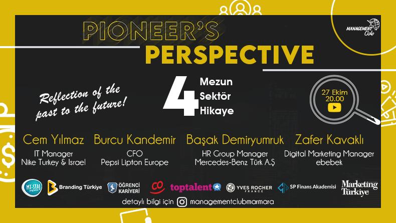 Öğrenci Kariyeri - En popüler - Marmara Üniversitesi Management Club Pioneer's Perspective Live ile 27 Ekim'de Sizlerle Buluşuyor!