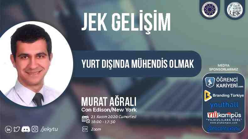 Öğrenci Kariyeri - Üniversite Etkinlikleri: Yıldız Teknik Üniversitesi Jeoenformatik Kulübü 'Yurt Dışında Mühendislik' Temalı Online Söyleşisi 21 Kasım'da!