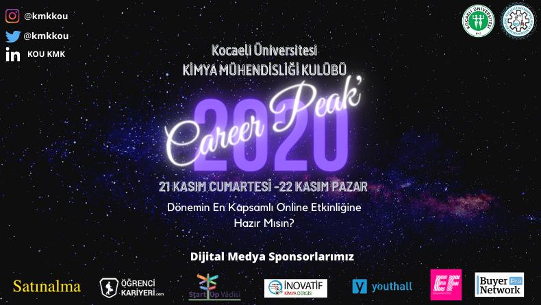 Öğrenci Kariyeri - Üniversite Etkinlikleri: Kocaeli Üniversitesi Kimya Mühendisliği Kulübü Career Peak'20 Başlıyor!
