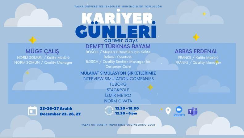 Öğrenci Kariyeri - : Yaşar Üniversitesi EMT Kariyer Günleri Başlıyor!