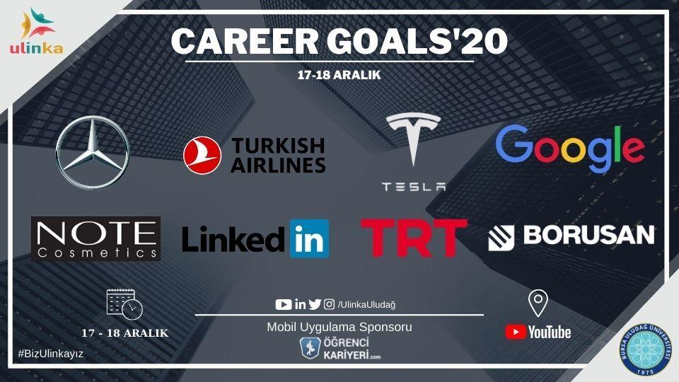 Uludağ Üniversitesi İnsan Kaynakları TopluluğuCareer Goals'20 Etkinliği Başlıyor!