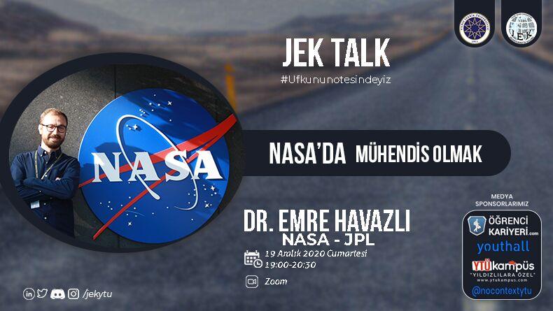 YTÜ Jeoenformatik Kulübü Nasa'da Mühendis Olmak Online Söyleşisi 19 Aralık'ta!