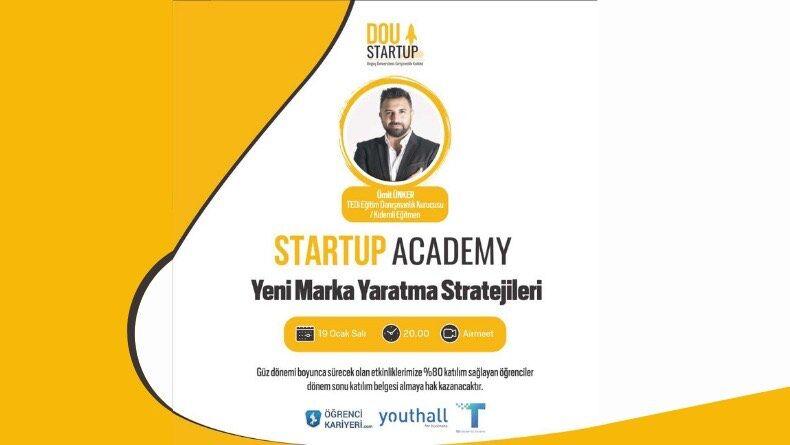 Öğrenci Kariyeri - Üniversite Etkinlikleri: DOU Startup Academy Başlıyor!