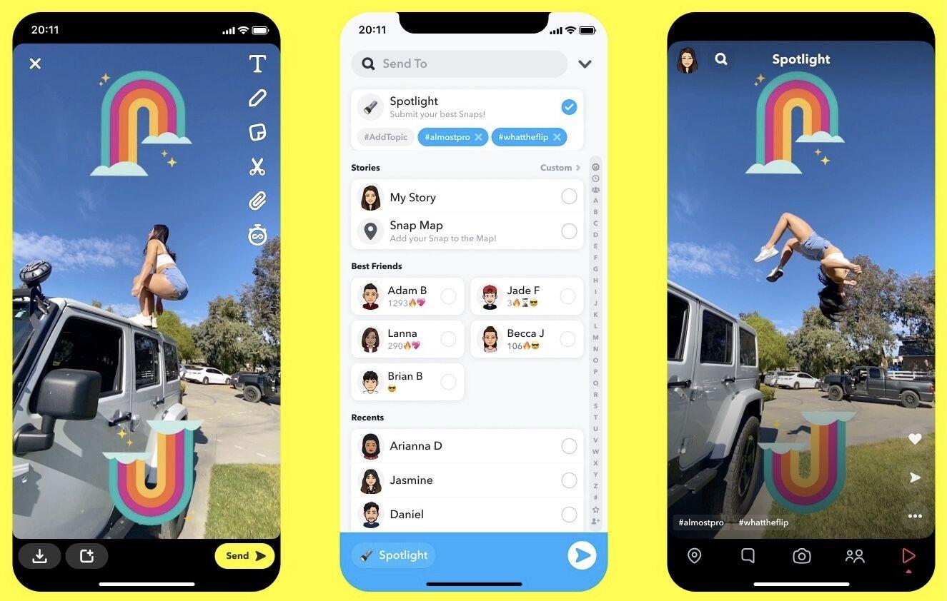 Tiktok'a Rakip Olan Snapchat Spotlight 100 Milyon Kullanıcıya Ulaştı