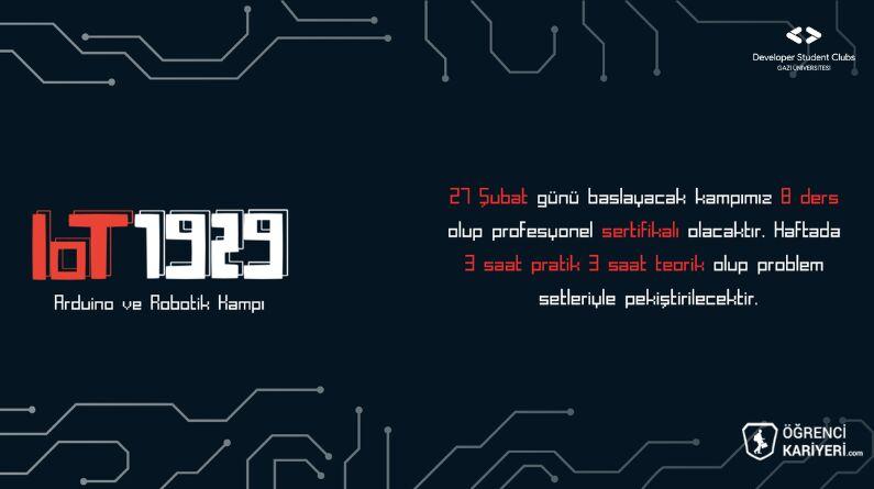 IoT1929 Arduino ve Robotik Kampı Başlıyor!