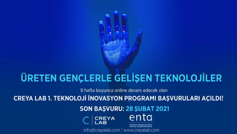 Creya Lab 1. Teknoloji İnovasyon Programı Başlıyor!