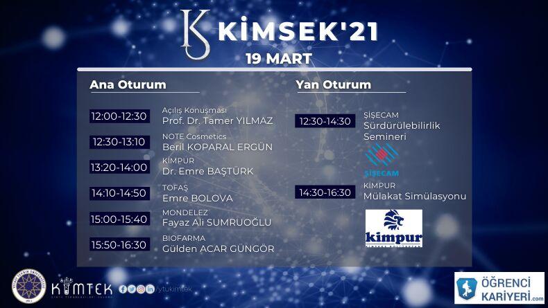 KİMSEK'21 Etkinliği Başlıyor !
