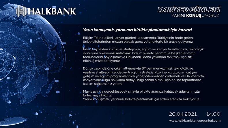 HalkBank Kariyer Günleri Başlıyor!