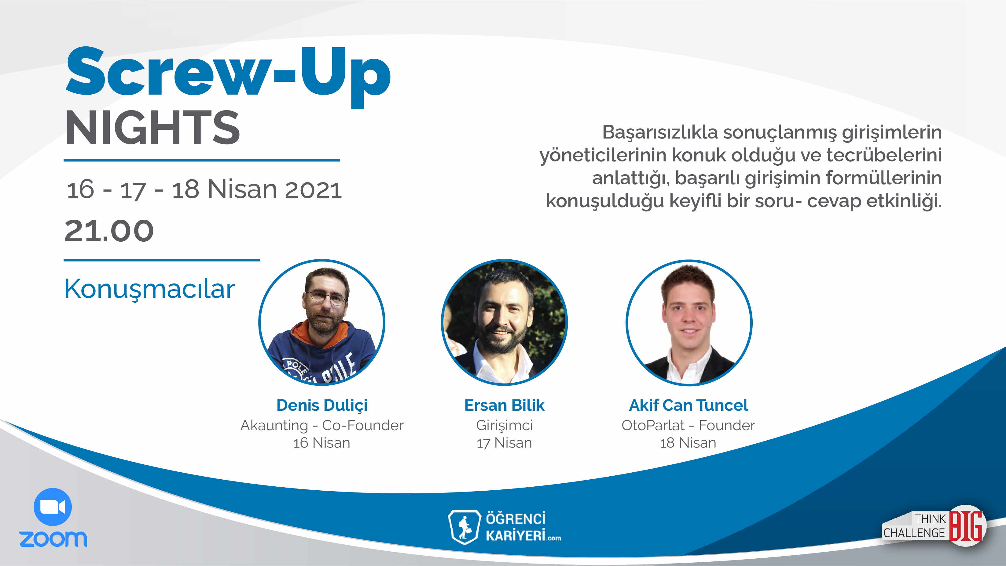 Screw-Up Nights Başlıyor!