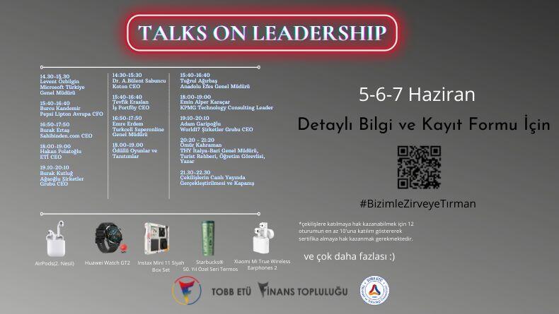 Talks On Leadership Başlıyor!