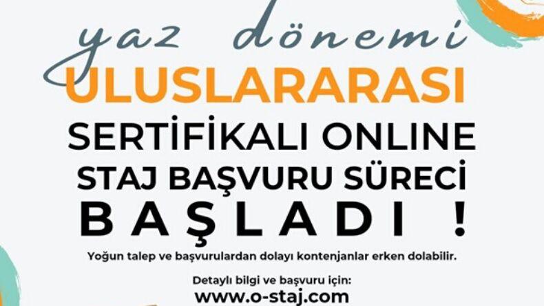Uluslararası Sertifikalı Online Yaz Stajı Başvuruları Açıldı!