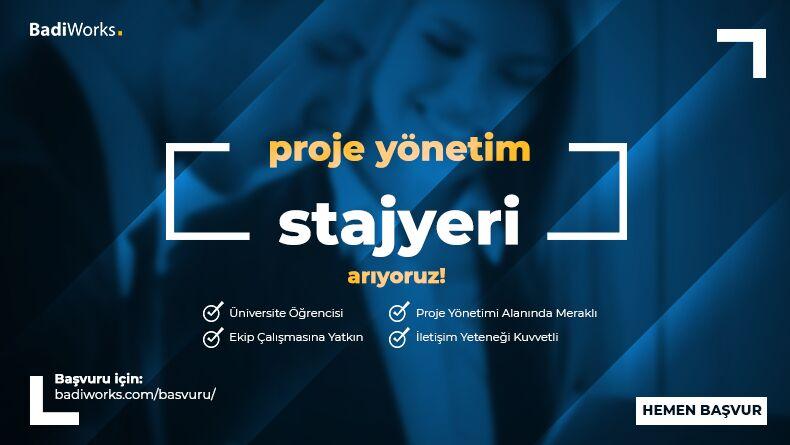 Proje Yönetim Stajyeri Arıyoruz!