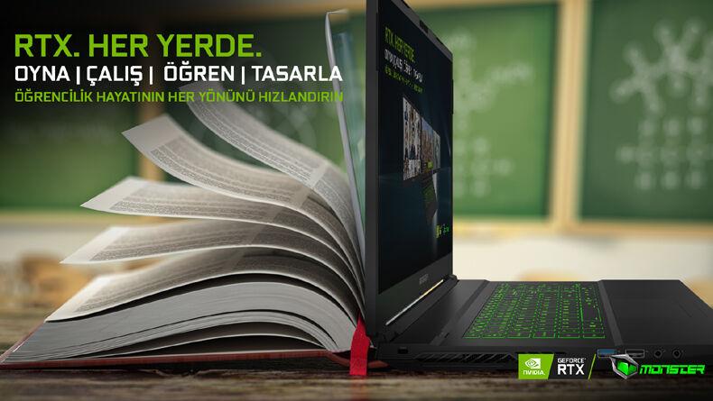 Yeni Eğitim-Öğretim Dönemine GeForce RTX Ekran Kartlı Monster Notebook'la Girin, Okulda Da Oyunda Da Bir Adım Önde Olun!