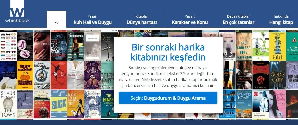 whichbook kitap seç web site